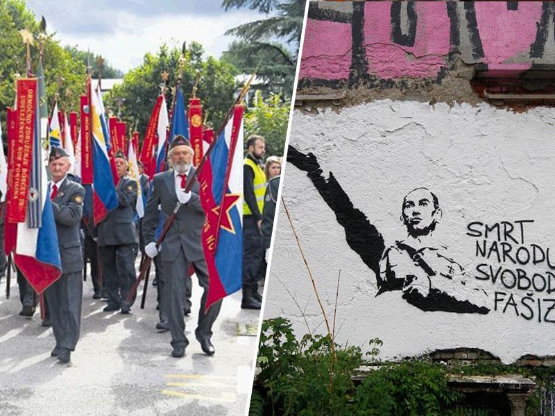 Zloraba proslave: Kako je Janša demonstriral zvestobo pokojnemu očetu domobrancu, ne pa državi