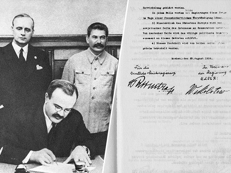 Spomin na pakt Ribbentrop - Molotov, ki ga je Sovjetska zveza upravičeno podpisala zaradi - izdaje Zahoda
