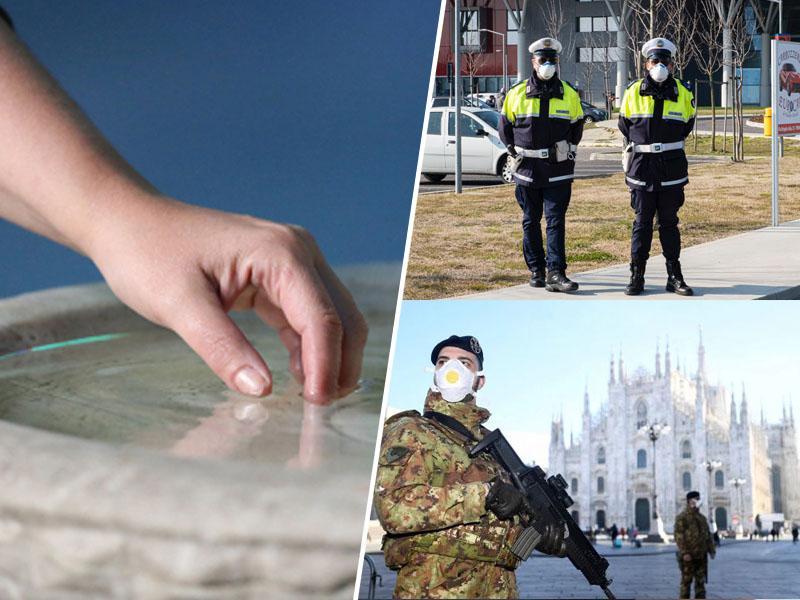 Italija: Potapljanje rok v sveto vodo strogo prepovedano, denarne in zaporne kazni za kršilce karantene