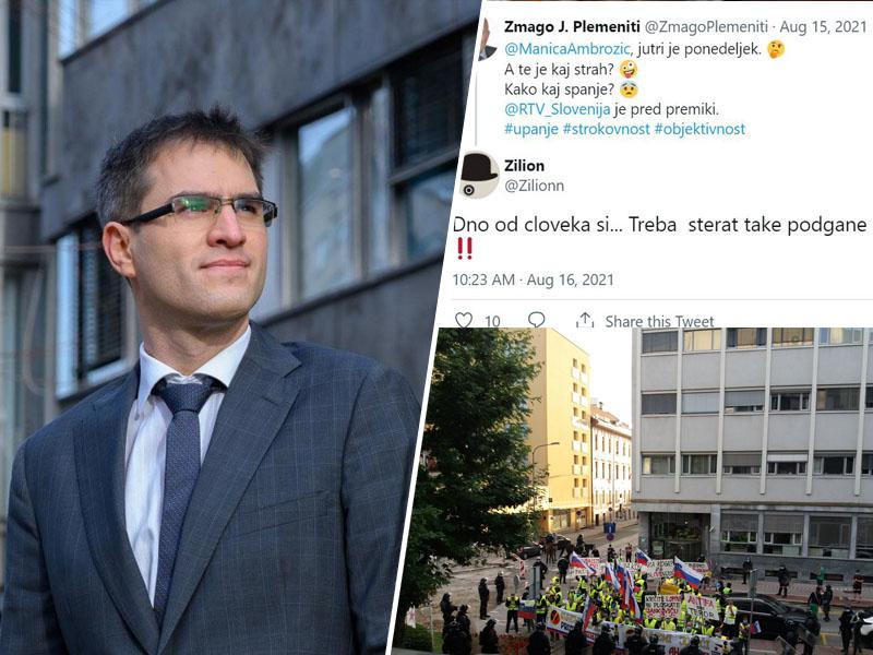»Padla je javna RTV!« Odsotnost svetnikov omogočila Janševemu direktorju izvedbo čistke na javni televiziji