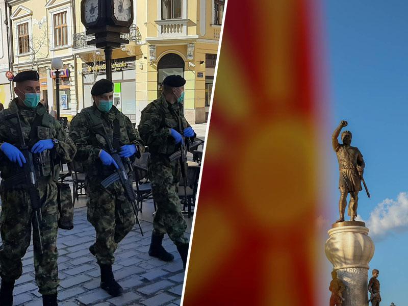 Hrvaška zaprla mejo, Makedonija razglasila izredne razmere, Srbija uvedla policijsko uro in prepoved gibanja starejših