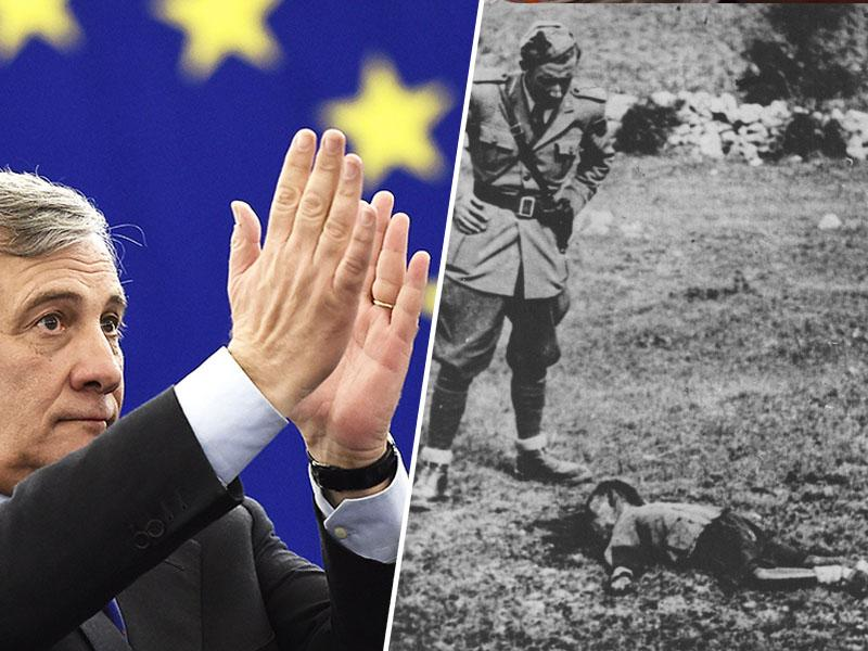 Predsednik EP najprej hvalil »dobrega državnika« Benita Mussolinija, nato se (znova) opravičil