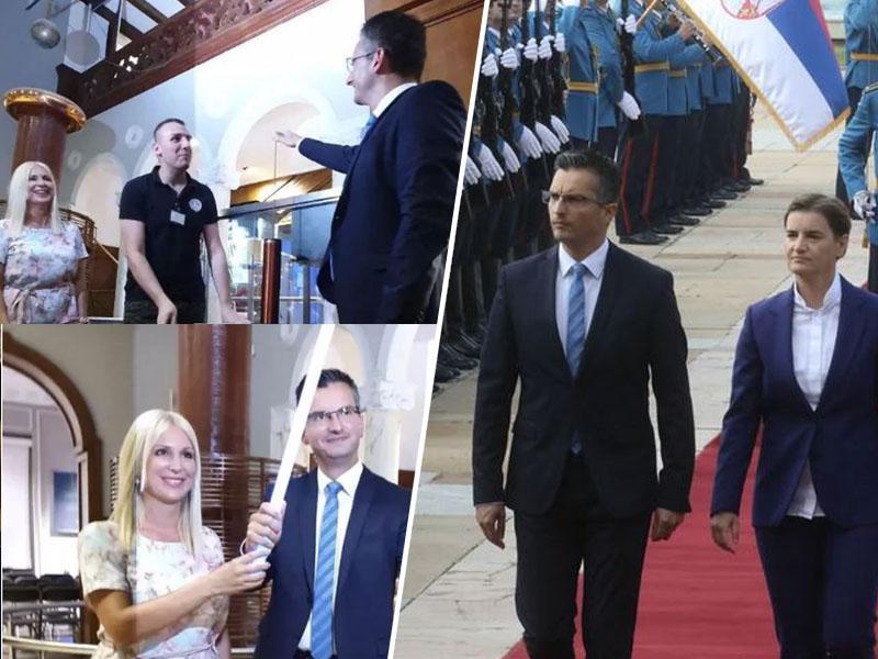 Kako se je Šarcu »posvetilo« v Srbiji: nadaljevanje dobrih odnosov, premier navdušen tudi nad Teslinim muzejem