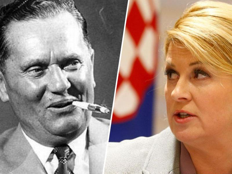 Josip Broz Tito razkrinkal laž predsednice Hrvaške