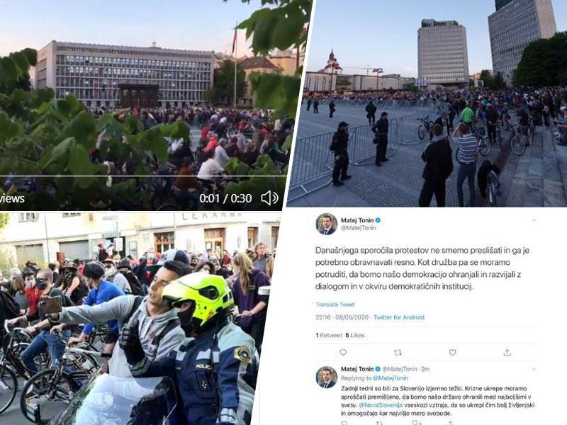 Tradicionalnemu slovenskemu zajtrku so se pridružili še tradicionalni protivladni kolesarski protesti