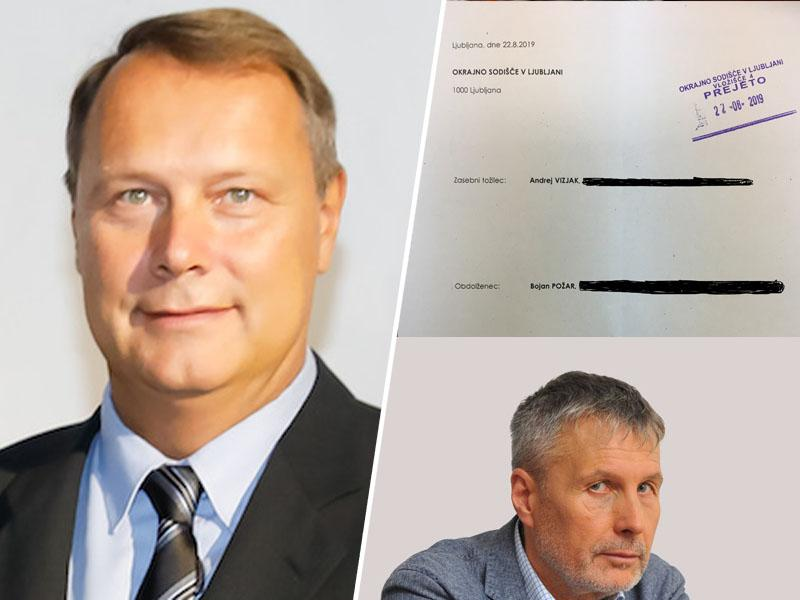 Dr. Andrej Vizjak zaradi obrekovanja, opravljanja in žaljivih obdolžitev s tožbo nad Bojana Požarja in Požareport