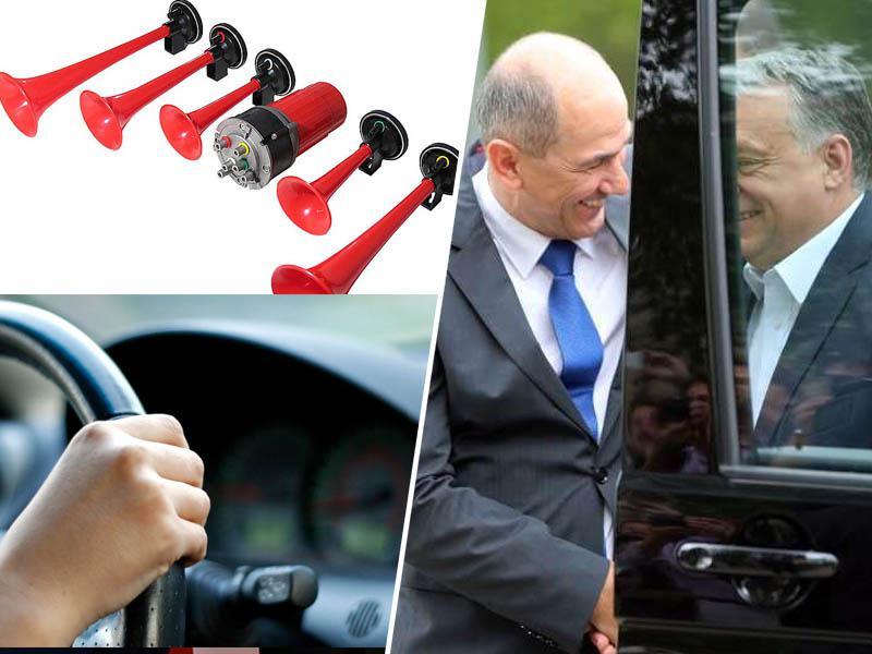»A res ni možnosti kakega alternativnega protesta? Recimo v avtih? Strobimo ga vun?«