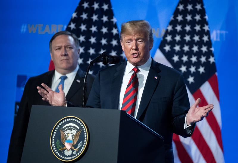 Trump: »Članice NATO naj porabijo štiri, ne samo dva odstotka.«