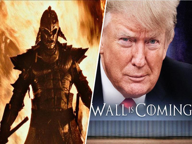 Zid prihaja: Trump znova pokradel »Igro prestolov«