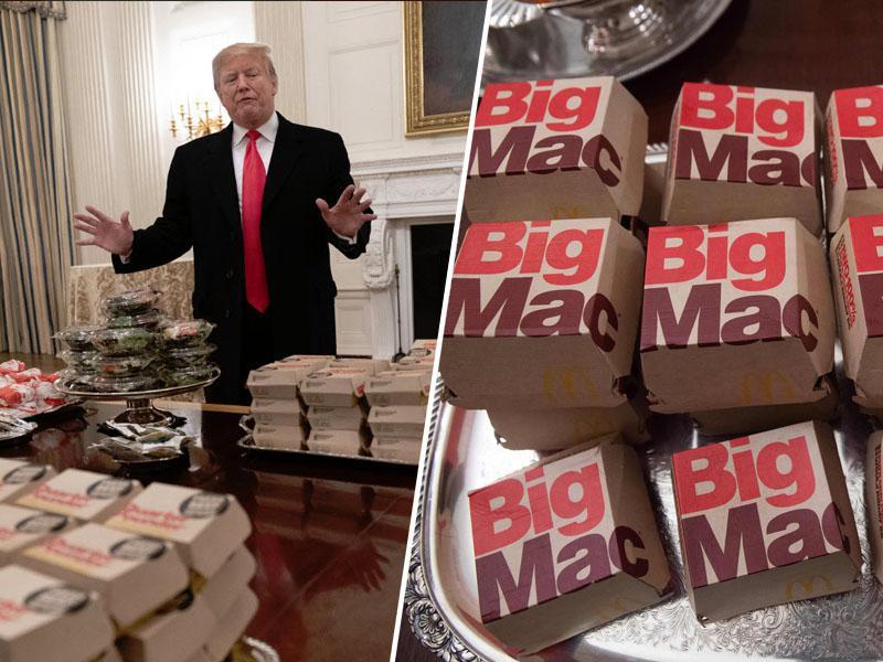 Donald Trump na rojstni dan Michelle Obama v šole znova uvedel nezdravo prehrano