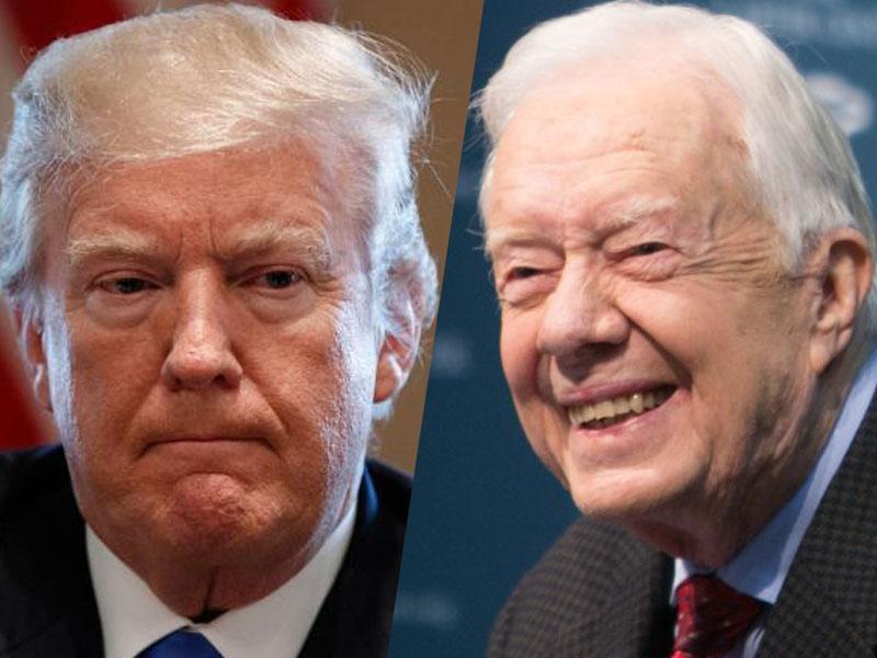 Jimmy Carter moli za »kretena« Donalda Trumpa
