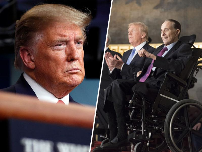 Donald Trump odšel v bolnišnico šele po grožnji zdravnikov, da ga bodo odpeljali na vozičku ali odnesli na nosilih