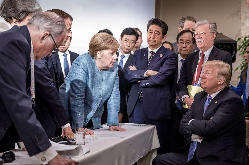 Vsi voditelji G7 proti Donaldu Trumpu – govorica telesa in fotografije, ki povedo vse
