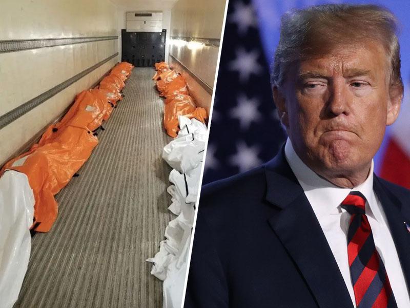 3000 mrtvih na dan: Trump že rahlja ukrepe, zato da bo zaradi koronavirusa umrlo dvakrat več, najmanj 135.000 Američanov
