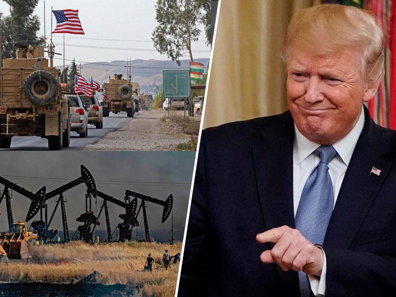 Trump: »Rad imam sirsko nafto, vzeli si jo bomo nekaj. To ni kraja, gre za povrnitev stroškov.«