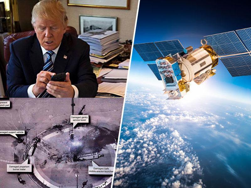 Trumpov tvit kompromitiral ameriški vohunski satelit