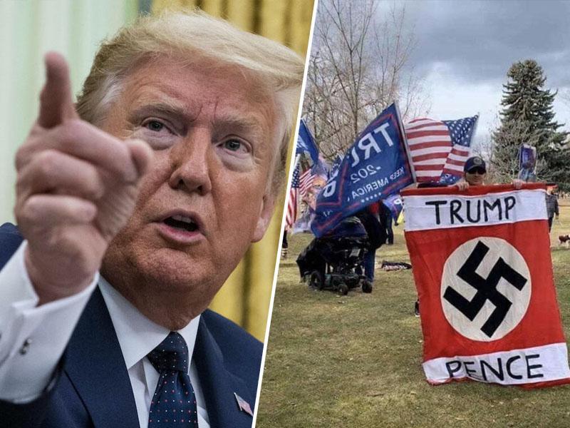 Napaka ali provokacija? Trump v tvitu pohvalil delovanje SS