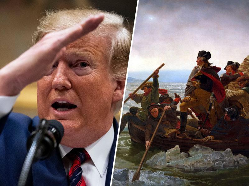 Trump o ameriških zmagah leta 1775: »Naša armada je obvladovala zrak in zasedla letališča«