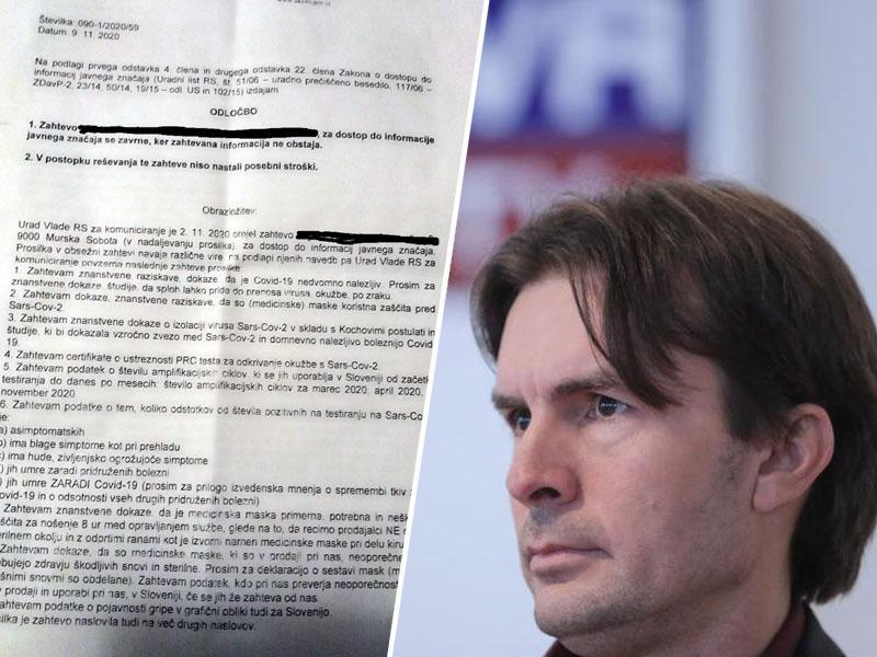 UKOM: »Zahteva za informacijami o koronavirusu v Sloveniji se zavrne, ker informacija ne obstaja!«