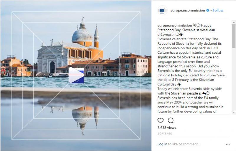 Žalitev za praznik: Evropska komisija Sloveniji dan državnosti čestitala s slikami Benetk!