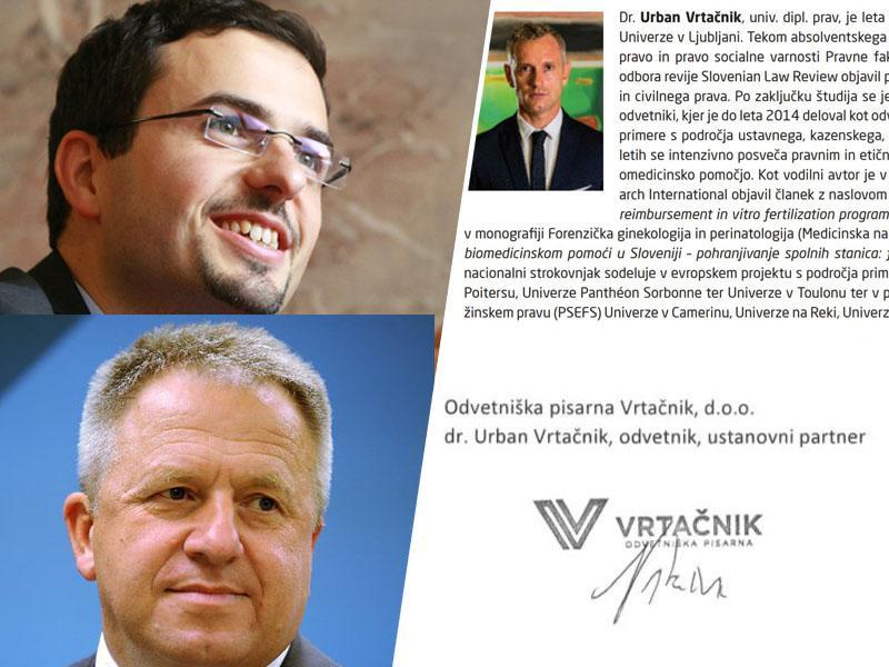 Odvetnik Vrtačnik najprej pisal »brezplačna mnenja« Toninu in zastopal Počivalška, zdaj se napaja na državnih jaslih