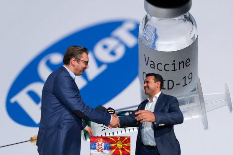 »Sijajen primer prijateljstva!« Zaev: Severna Makedonija dobiva od Srbije 8.000 odmerkov cepiv. Slovenija pa …