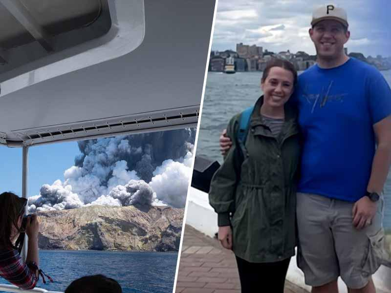 Odšla na medeni mesec, končala v žrelu ognjenika