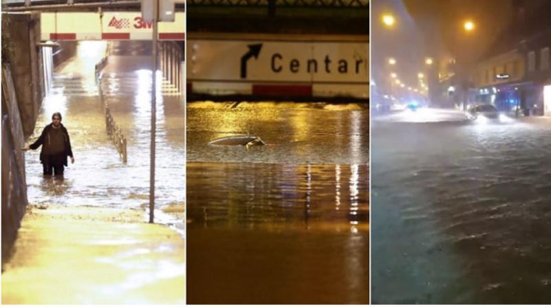 Neurja in obilen dež: Potop v Zagrebu in Tuzli