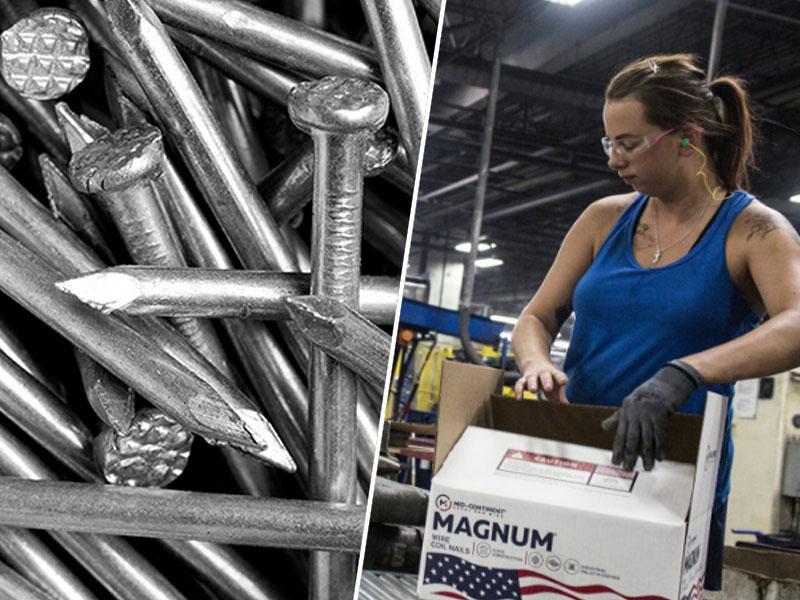 Največji ameriški proizvajalec žebljev na robu preživetja zaradi tarif na jeklo