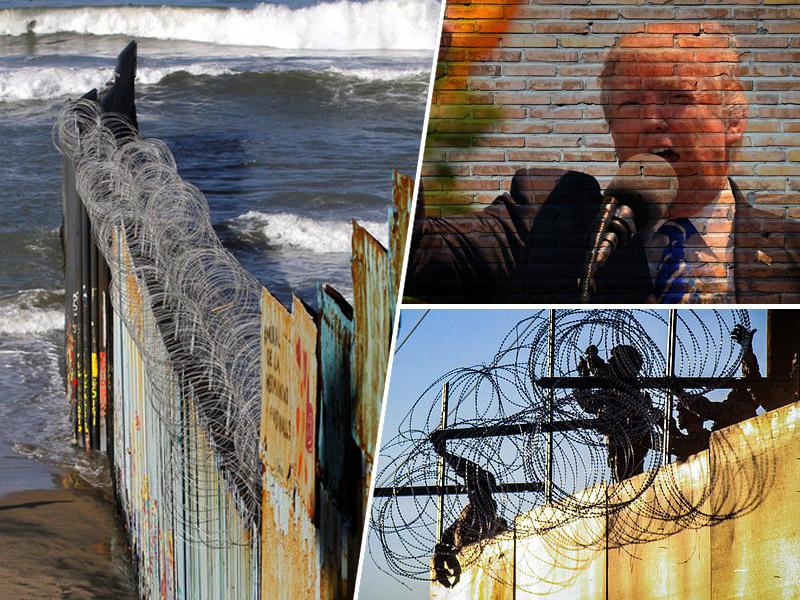 Trump ostal brez zaščitne žice na meji – Mehičani so jo uporabili za zavarovanje svojih domov