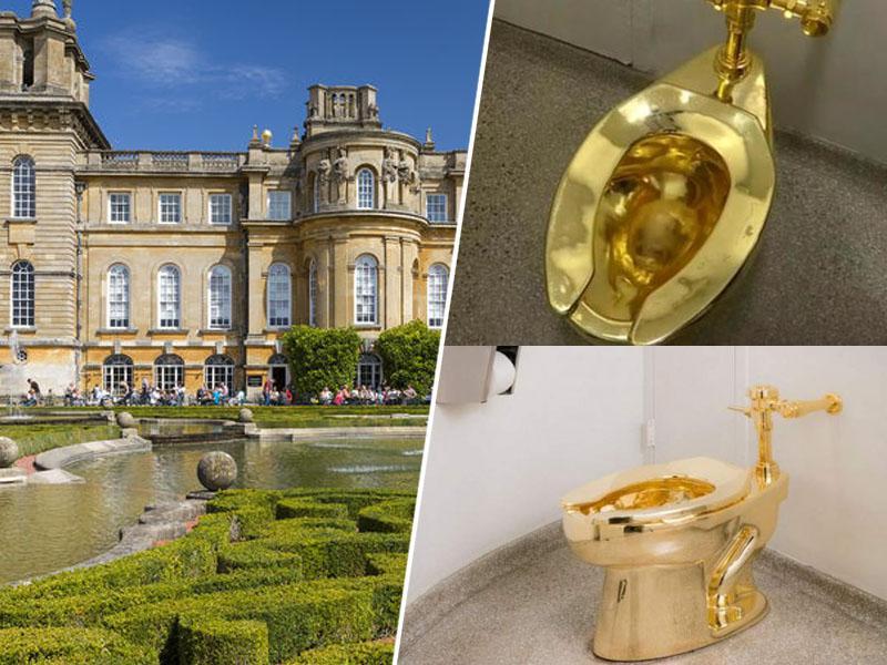 Podvig: iz palače ukradli več kot milijon evrov vredno - zlato straniščno školjko