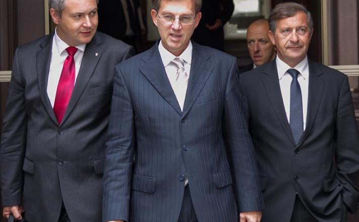 Predsedniki vladne koalicije, Dejan Žida, Miro cera in Karel Erjavec