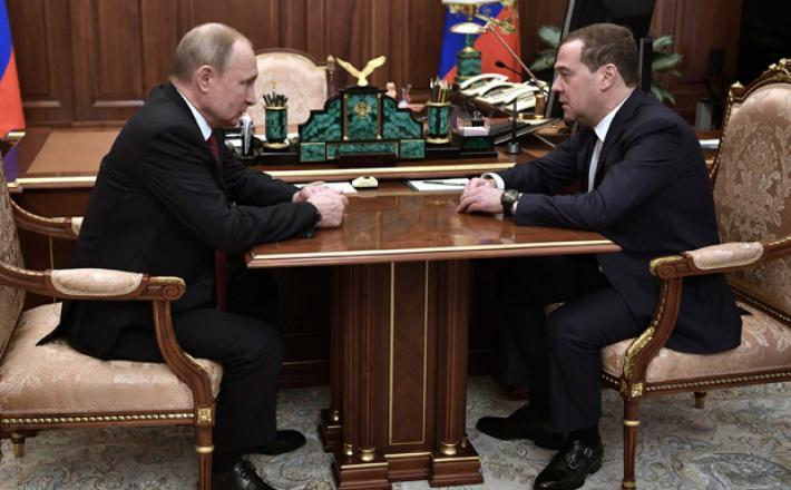 Putin in Medvedjev