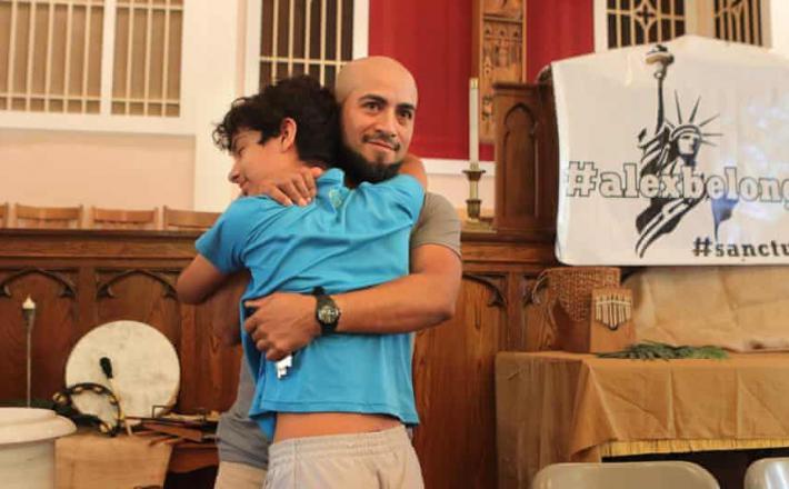 Alex Garcia, begunec, ki se je skrival v Cerkvi
