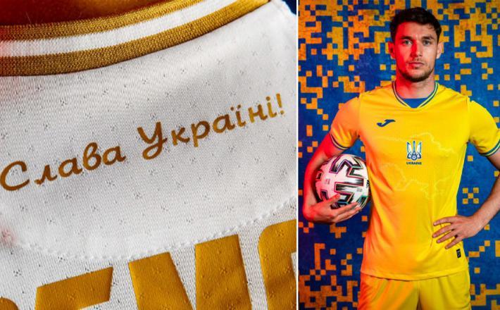Sporne majice ukrajinskih nogometašev  Vir: RT