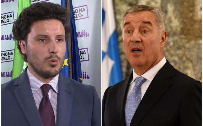 Nasprotnika: Abazović in Djukanović. Vir: Twitter