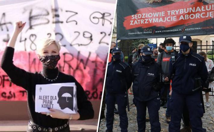 Protesti zoper prepoved splava na Poljskem