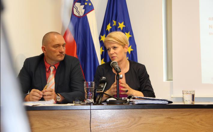 Aleksandra Pivec in njen naslednik Jože Podgoršek Vir: Igor Mekina