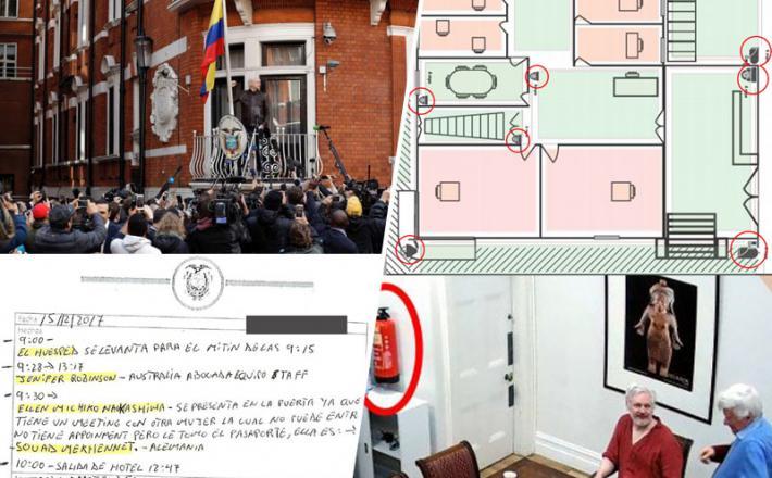 Assange - nadzorovanje v veleposlaništvu Ekvadorja