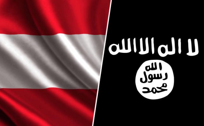 Austrija in ISIS zastava