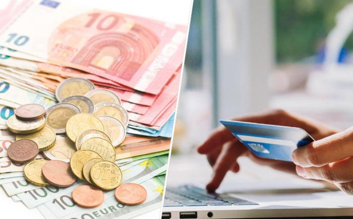 Banka plačilom, euro, denar