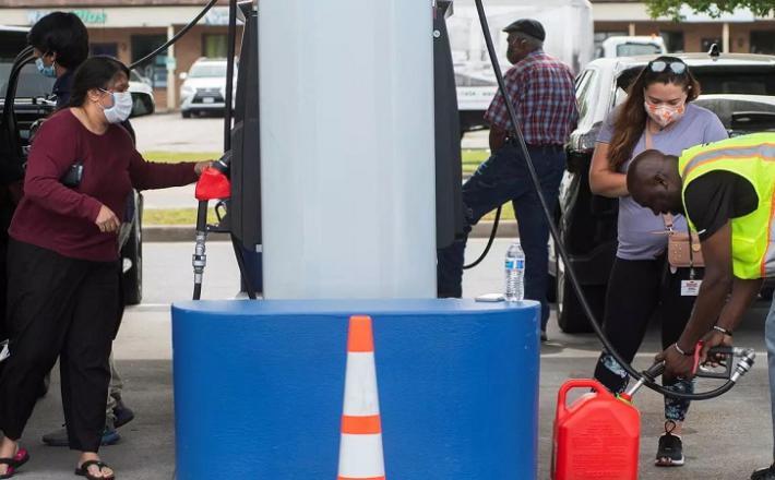 Pomanjkanje bencina v ZDA  Vir: Twitter