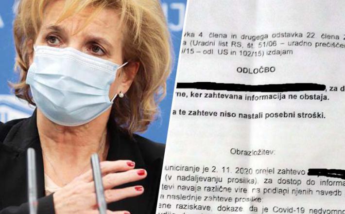 Bojana Beović in neobstoječe informacije o Covidu-19