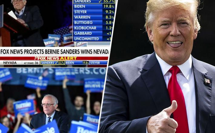 Bernie Sanders - zmaga v Nevadi