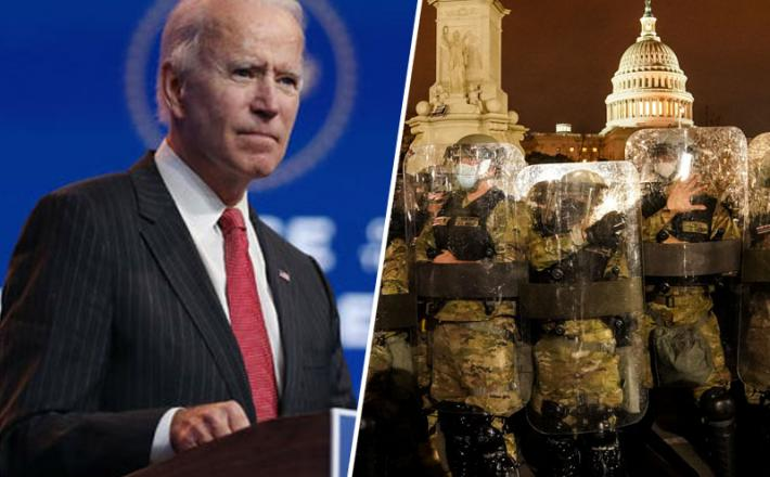 Joe Biden in Nacionalna garda. Vir: Twitter