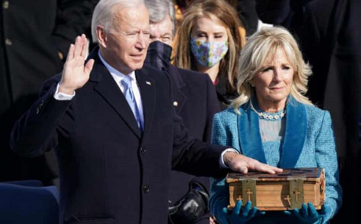 Joe in Jill Biden - prisega. Vir: Twitter