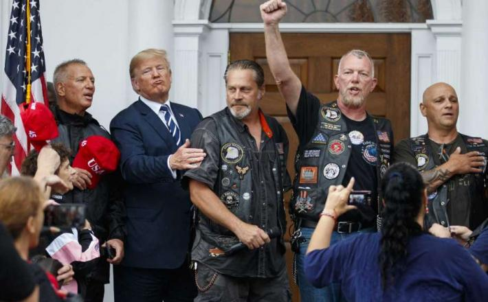Bikerji in Trump Vir:Apnews.com