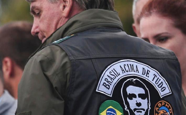 Bolsonaro na motorističnem shodu  Vir: Twitter, FB