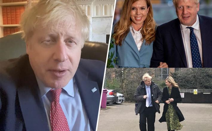 Boris Johnson in Carrie Symonds