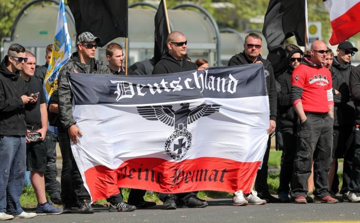 Chemnitz, protesti maj 2018 Vir: Pixell